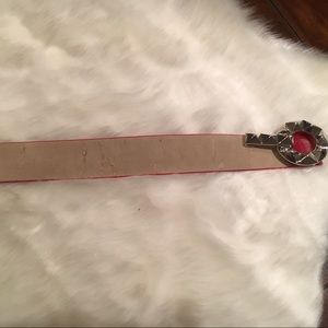 Betsey Johnson Accessories - Betsey Johnson Red Belt with Silver Tone Hardware